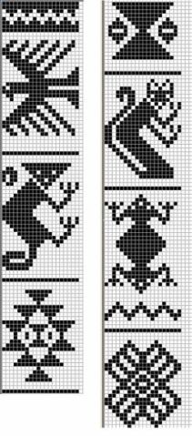 cross stitch southwest pattern native folklore geometric