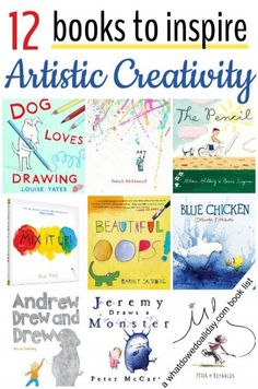 23 Picture Books to Inspire Artistic Creativity Books to inspire kids to make art — a nice list with some beautiful art. I would add Harold and the purple crayon, as it is a classic and what some of these books are inspired on. Art Books For Kids, Childrens Books, Art For Kids, Craft Books, Toddler Books, Kids Fun, Ecole Art, Preschool Books, Kids Reading