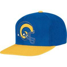 Men's Mitchell & Ness Los Angeles Rams XL Logo 2 Tone Snapback Adjustable Hat