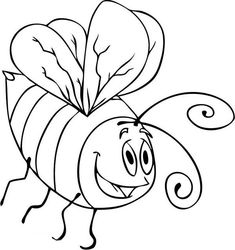 Bumblebee, : A Drawing of Cartoon Bumblebee Coloring Page Online Coloring Pages, Coloring For Kids, Coloring Sheets, Cartoon Drawings, Reindeer, Embroidery Designs, Free, Animals, Drawings