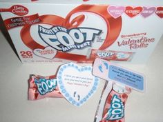 Free Printable Fruit by the Foot V-day Tag.  Teacher to Student one and Student to Student one.