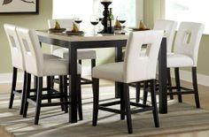 sexy elegance modern formal dinette set | ... table set in white hom 3270 36 5s1w on dining sets formal dining sets