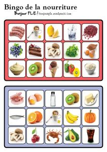 bingonourriture2 Teaching French, Bingo, Little Einsteins, Esl Lessons, French Resources, Educational Games, Infant Activities, Speech Therapy, Games