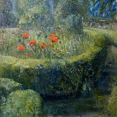 De tuin van Matthijs Röling(The Garden of Matthijs Röling) - Matthijs Röling Dutch painter b. 1943-