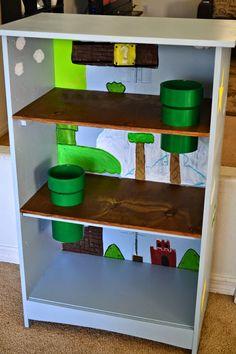 for boy, DIY Mario Bros. Super Mario Room, Super Mario Party, Chambre Nolan, Mario Crafts, Mario And Luigi, Play Houses, Boy Room, Diy For Kids, Game Room
