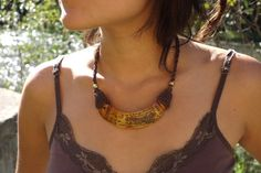 boar tusk necklace by GypsysRoots on Etsy