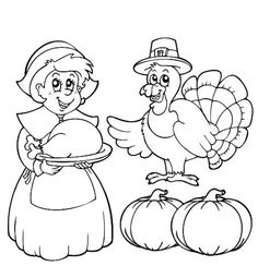 21 Best Cool Thanksgiving Coloring Pages For Children Images