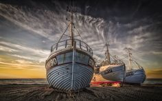 Thorup Strand - Another picture of the boats at Thorup Strand in Denmark.