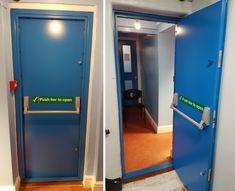 Steel Security Doors, Fire Escape, Language School, Locker Storage