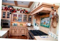 Great Christmas Country Kitchen Design Nice Country Kitchen With Christmas Accessories