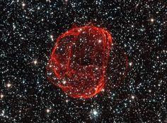 The corpus celestium of an exploded star. Photo by ESA/Hubble & NASA