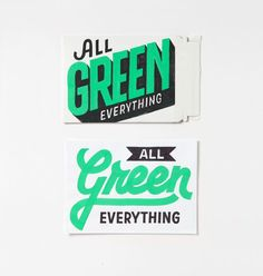 All Green Everything by Erik Marinovich