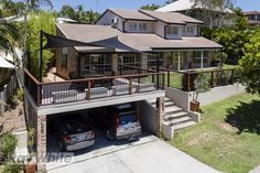 Glamorous Carport Deck Combination By Design Painting Architecture Set Carport Designs, Garage Design, Deck Design, House Design, Deck Building Plans, Building A Porch, Carport Garage, Garage Plans, Detached Garage