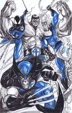 The New Fantastic Four art.