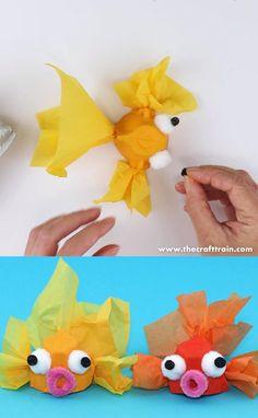 Toddler Crafts, Diy Crafts For Kids, Fun Crafts, Ocean Crafts, Summer Crafts Kids, No Sew Crafts, Creative Ideas For Kids, Arts And Crafts For Kids Toddlers, Circus Crafts
