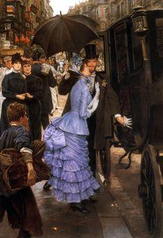 James Tissot (1836-1902, France) - The Traveller