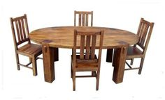 Dakota Large Oval Dining Table & 6 Chairs - Solid Mango Wood