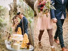 hanging dessert tables - photo by Danielle Capito - http://ruffledblog.com/bohemian-winter-glam-inspiration