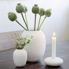 Use the Hammershøi vase with the classic furrows to create a stylish look that will take your décor to a new level. Find the white Hammershøi mini vase here Candles, Decor, Candle Holders, Scandinavian Home, Elegant Vases, Danish Design, Beautiful Vase, Flower Vases, Vase