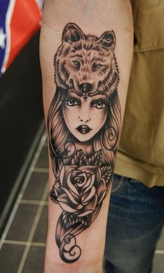 Wolf headdress Tattoo by *Nevermore-Ink on deviantART