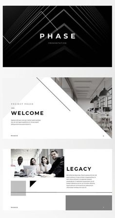 Keynote Template - Phase - For those looking for a professional presentation, . Keynote Template - Phase - For those looking for a professional presentation, 'Phase' offers a modern angula Ppt Design, Layout Design, Site Web Design, Web Design Tutorial, Web Design Trends, Web Layout, Brochure Design, Design Websites, Presentation Layout