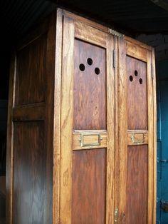 Vintage Old School Wooden Industrial Locker Hallway Coat Shoe Cupboard Cabinet | eBay