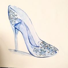 #Disney #Cinderella 's slipper, with glitter and Swarovski crystals