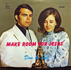Don and Sue contemplate their chances of successfully leaving the chapel clutching the solid gold praying hands.