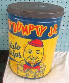 By the time I was around these came in boring bags, but I do love me some Humpty Dumpty potato chips.