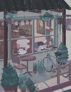 66 Ideas For Lofi Anime Aesthetic Wallpaper Aesthetic Art, Aesthetic Anime, Pretty Art, Cute Art, Anime Kunst, Anime Art, Paintings Tumblr, Anime Scenery, Aesthetic Wallpapers