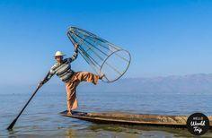Einbeinfischer im Inle Lake