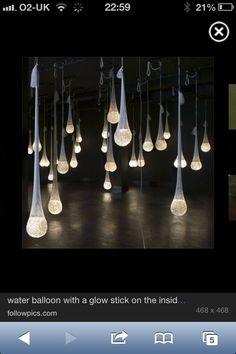 Glowsticks / water balloons / tights