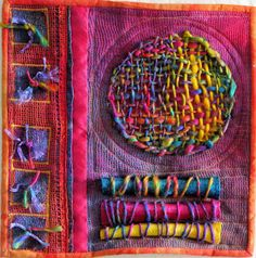 10 handmade art journal ideas for the beginner or advanced artist. You will love these tutorials, and I've added another bonus handmade art journal idea. Sculpture Textile, Textile Fiber Art, Fiber Art Quilts, Fabric Art, Fabric Crafts, Fabric Weaving, Weaving Art, Diy Tricot Crochet, Creation Art