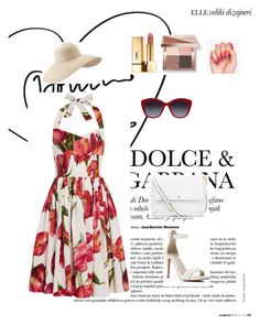 """Summer with Dolce Gabbana"" by samra-dzabija ❤ liked on Polyvore featuring Dolce&Gabbana, Kenneth Cole, Eric Javits, Tory Burch, Bobbi Brown Cosmetics, Yves Saint Laurent, fashionset, summerdate and summerbrights"