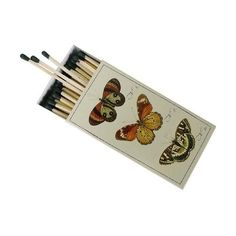 Botanical Butterfly European Design Large Decorative Matches (13 CAD) ❤ liked on Polyvore featuring home, home decor, fillers, accessories, other, items, stuff, backgrounds, text and quotes