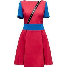 LATTORI Red Zipped Dress