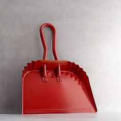 Red Dust Pan ADORBS. But would it scratch the floor? Clean Slate Cleaning Products: Brushes, Bristles and Beauty I Crate and Barrel { from www.crate }