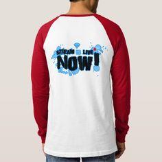 Stream Canvas Long Sleeve Raglan T-Shirt