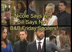 The Bold and the Beautiful (B&B) spoilers for Friday, October 28, tease that Nicole (Reign Edwards) will have some news for Maya (Karla Mosley).