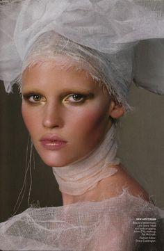 Lara Stone by Steven Meisel + Real Beauty
