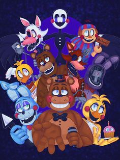 I was scared at the plushies- Five Nights At Freddy's, Fnaf 1, Anime Fnaf, Freddy S, Fnaf Wallpapers, Fnaf Baby, Scary Games, 2 Kind, Fnaf Drawings