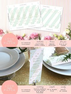 Photo Booth Place Card PC1009. Wedding Card Templates