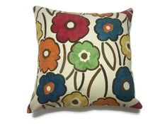 Decorative Pillow Cover Royal Blue Orange by LynnesThisandThat, $17.50