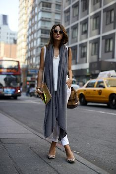 basics, a scarf and fun shoes and clutch. easy easy easy!
