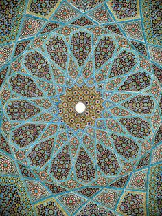 dome of Hafiz's tomb, Shiraz.