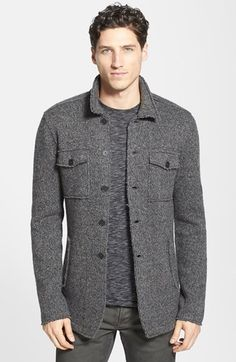 Free shipping and returns on John Varvatos Star USA Raw Edge Knit Sweater Jacket at Nordstrom.com. Raised seams and raw edges create rugged appeal on a warm knit sweater-jacket crafted from marled wool-blend yarns.