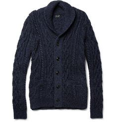J.CrewCable-Knit Cotton Cardigan|MR PORTER $170
