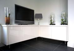 Tv-meubel Boomerang I klein Hoogglans gelakt wit  TV meubel ...