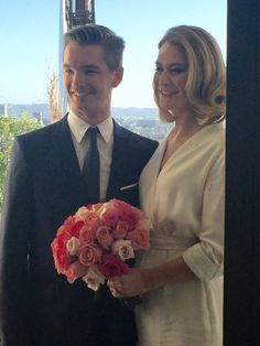 What a beautiful day for a wedding at Chateau Marmont in West Hollywood! Rachel Goldberg and Thomas Coutier were married on the balcony of a lovely suite at the Chateau Marmot on Sunday, March S… Got Married, Getting Married, Chateau Marmont, What A Beautiful Day, Marriage License, Us Beaches, Beach Weddings, Hotel Wedding, West Hollywood