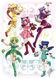 Buling, Zakuro, Ichigo, Retasu, and Minto Tokyo Mew Mew Ichigo, Fanart, Gekkan Shoujo Nozaki Kun, Chinese Cartoon, Kaichou Wa Maid Sama, Sakura, Mermaid Melody, Anime Fantasy, Real Anime